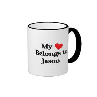 Mon coeur appartient à Jason Mug Ringer
