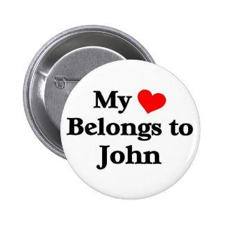 Mon coeur appartient à John Pin's Avec Agrafe