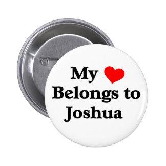Mon coeur appartient à Joshua Badge Rond 5 Cm
