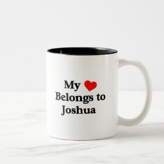 Mon coeur appartient à Joshua Mug Bicolore