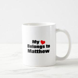 Mon coeur appartient à Matthew Mug Blanc