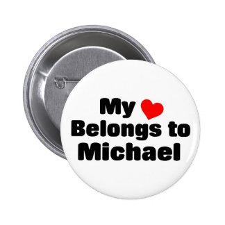 Mon coeur appartient à Michael Badge Rond 5 Cm