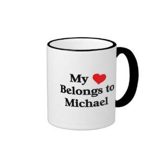 Mon coeur appartient à Michael Mug Ringer