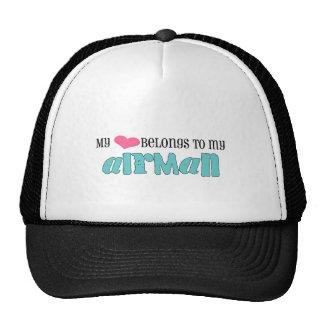 Mon coeur appartient à mon aviateur casquettes