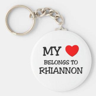 Mon coeur appartient à RHIANNON Porte-clé Rond
