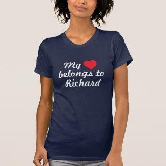 Mon coeur appartient à Richard T-shirt