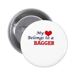 Mon coeur appartient à un Bagger Pin's