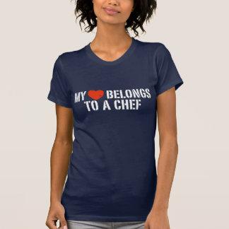 Mon coeur appartient à un chef t-shirt