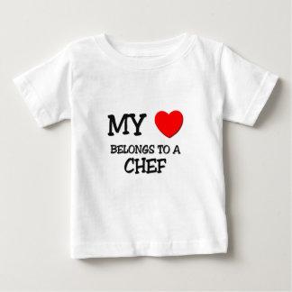 Mon coeur appartient à un CHEF T-shirt Pour Bébé