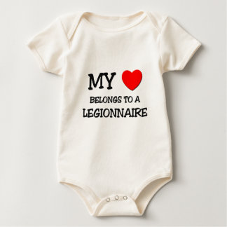 Mon coeur appartient à un LÉGIONNAIRE Bodies Pour Bébé