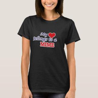 Mon coeur appartient à un pantomime t-shirt