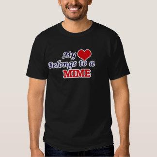 Mon coeur appartient à un pantomime t-shirts