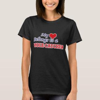 Mon coeur appartient à un receveur de taupe t-shirt