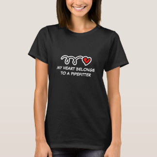 Mon coeur appartient à un T-shirt de femmes du