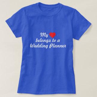 Mon coeur appartient à un wedding planner t-shirts