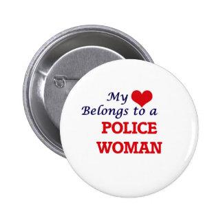Mon coeur appartient à une femme de police badges