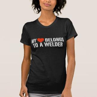 Mon coeur appartient à une soudeuse t-shirt