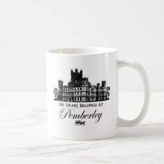 Mon coeur appartient chez Pemberley Mug Blanc