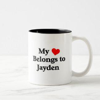 Mon coeur appartient pour jayden tasses à café