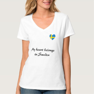 """""""Mon coeur appartient T-shirt en Suède"""""""