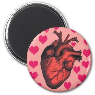 mon coeur magnet rond 8 cm