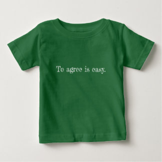 Mon convenez le T-shirt de bébé de citation