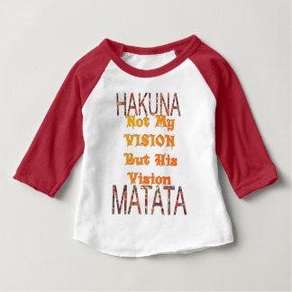 Mon cru africain de vision colore le matata de t-shirt pour bébé