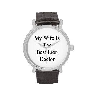 Mon épouse est le meilleur docteur de lion montres cadran