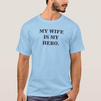 Mon épouse est mon héros t-shirt