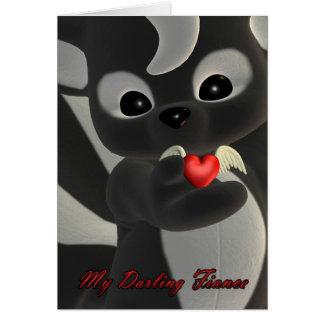 Mon fiancé chéri, carte de Saint-Valentin