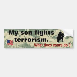 Mon fils combat le terrorisme autocollant de voiture