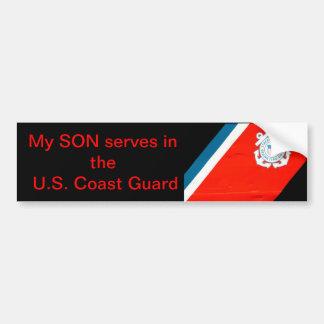 mon fils sert l'USCG Autocollant De Voiture