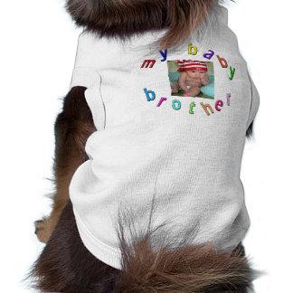 Mon frère de bébé - photo customisée t-shirt pour chien