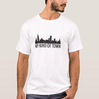 Mon genre de T-shirt d'horizon de Chicago de ville
