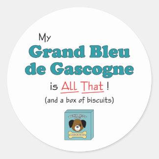 Mon Grand Bleu de Gascogne est tout cela ! Autocollants