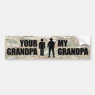 Mon grand-papa est dans les militaires autocollant pour voiture