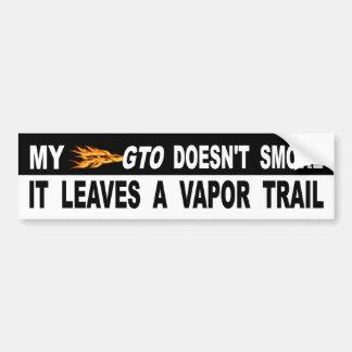 Mon GTO ne le fume pas laisse une traînée de Autocollant De Voiture