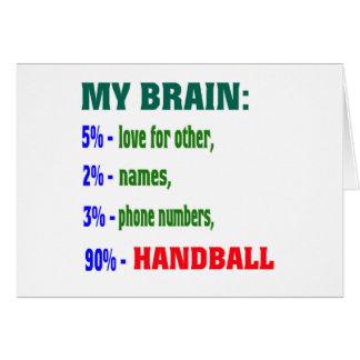 Mon handball du cerveau 90 % carte de vœux