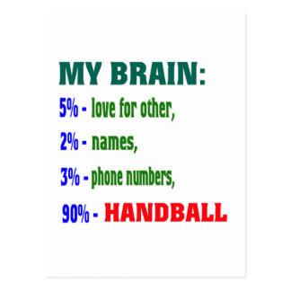 Mon handball du cerveau 90 % carte postale