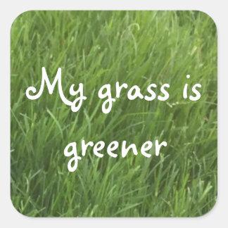Mon herbe est les autocollants verts