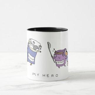 Mon héros, tasse de café comique drôle du café |