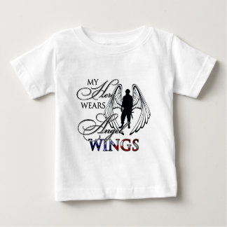 Mon héros utilise des ailes d'ange t-shirt pour bébé