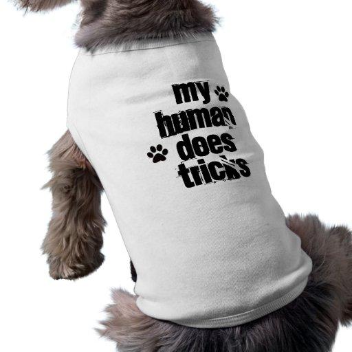 MON HUMAIN FAIT chemise drôle de chien de TOURS Manteaux Pour Animaux Domestiques