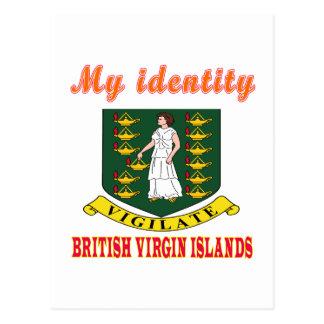 Mon identité Îles Vierges britanniques Cartes Postales