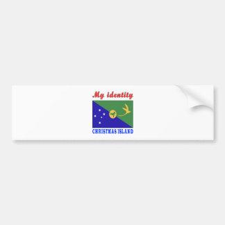 Mon Île Christmas d'identité Adhésifs Pour Voiture