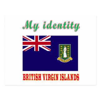 Mon île de Vierge britannique d'identité Carte Postale
