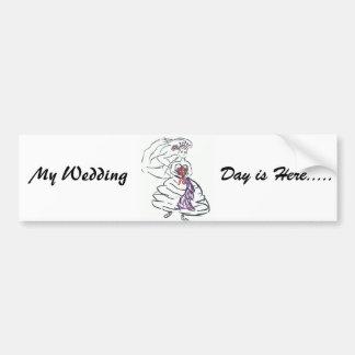 Mon jour du mariage est ici/économies la date autocollants pour voiture