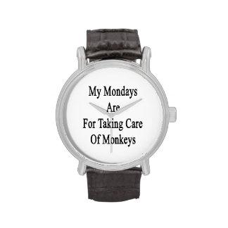 Mon lundi est pour prendre soin des singes montres cadran