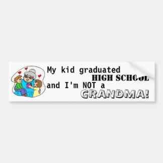 Mon lycée et moi reçus un diplôme par enfant ne su autocollant pour voiture