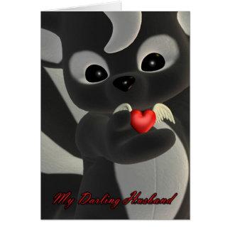 Mon mari chéri, carte de Saint-Valentin
